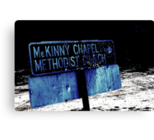 The Road to Salvation Canvas Print