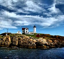Nubble Island Light by Carrie Blackwood