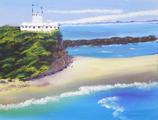 Lighthouse on Nobby's Beach by PamelaMeredith