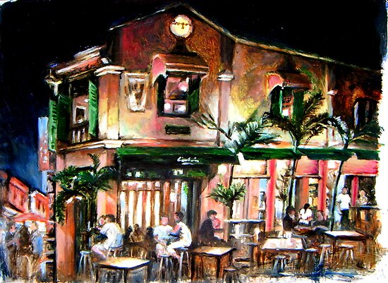 Night Cafe in Malacca by Hidemi Tada