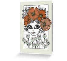 Charming Poppy Greeting Card