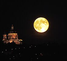 Full Moon and Superga church by Stefano  De Rosa