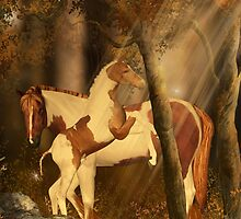 Thanksgiving Card Happy Thanksgiving Horses by Moonlake