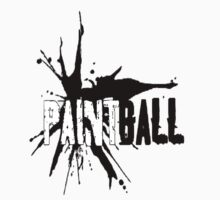 Paintball white-blk by Frank Primeau
