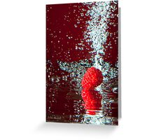 Raspberry Splash Greeting Card