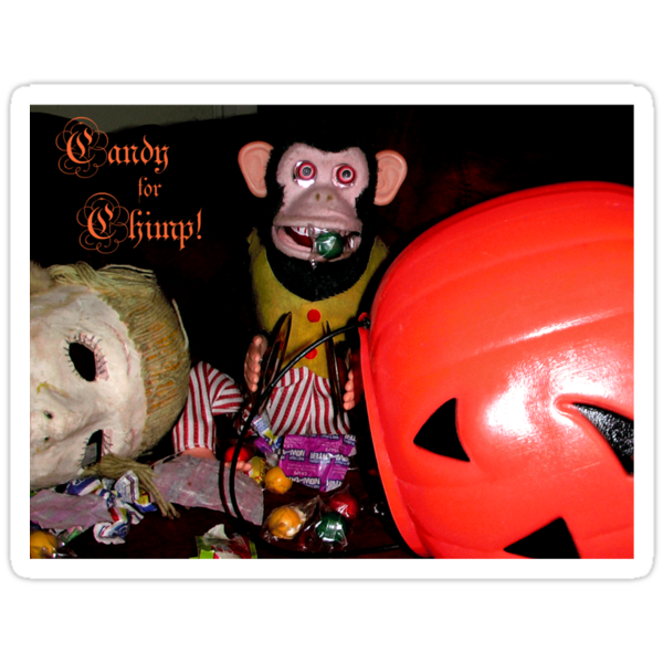Jolly Chimp Gorges on  Candy Tee by Margaret Bryant