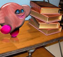 Kirby at the Library by GolemAura