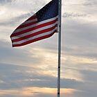 Flag at Sunset- Prairie Creek reservoir by mltrue