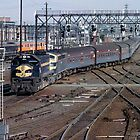 The Overland-Melbourne Rail Yard by glennmp