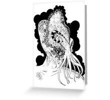 Minion of Cthulhu in Ceremonial Mask Greeting Card