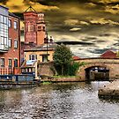Storm Over Granary Wharf, Leeds ~ Colour ~ by Sandra Cockayne