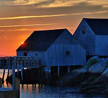 Peggys Cove Sunset by oceaNSedge