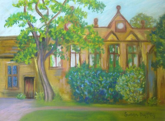 East Riddlesden Hall from the Lake   by Susan Duffey