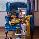 Blue Chair by Marcus  Gannuscio