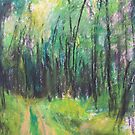 Wald (pastel) by Niki Hilsabeck