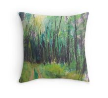 Wald (pastel) Throw Pillow