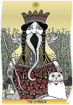 The Emperor (Tarot of the Roses)  by Anita Inverarity