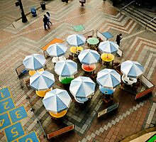 Outdoor Cafe on a Plaza by Jim Scolman