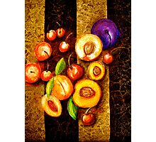 Still Life with, Cherries, Nectarines, Apricots, Peaches and One Plum Photographic Print