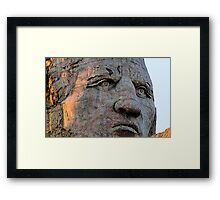 Chief Crazy Horse Monument Framed Print