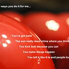 5 Ways You Do it for Me by Deanna Roberts Think in Pictures