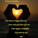 I love you because... by Deanna Roberts Think in Pictures