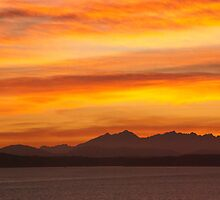 Seattle's Puget Sound Sunset by thrane
