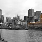 Melbourne City - Black & White - Selective Colour by EmmaG93
