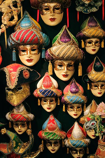 Venetian Masks by Inge Johnsson