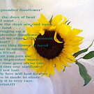 September Sunflower with Poem by ArtistJD