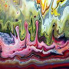 Fluid Splash Acrylic Painting by markchadwick