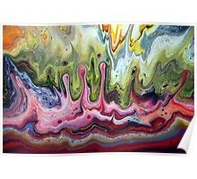 Fluid Splash Acrylic Painting Poster