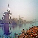 Winter Morning Kinderdijk by Nigel Fletcher-Jones