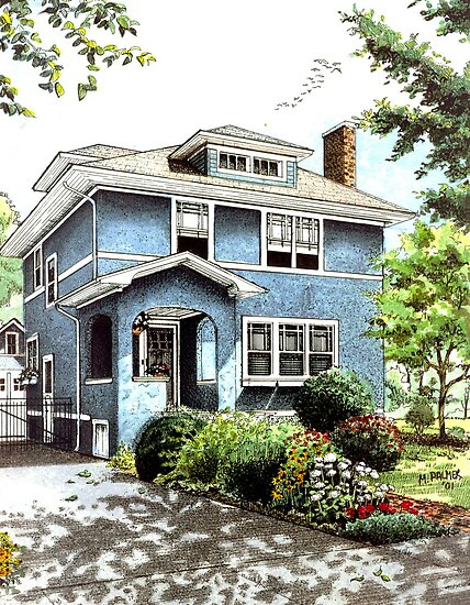 Blue House by Mary Palmer
