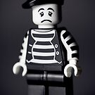 Sad Lego Mime by Kevin  Poulton - aka 'Sad Old Biker'