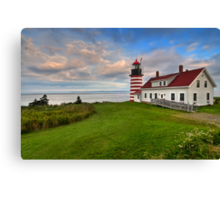West Quoddy Light - Maine Canvas Print