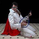 Elvis plays Led Zeppelin air guitar.. by Mel Brackstone