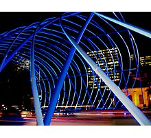 Vivid Blue Arch Photographic Print