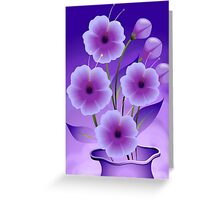 Stunning beauty of the flowers in a pot Greeting Card