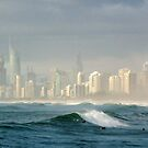 Surfers thru the Spray by BK Photography