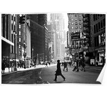 Street Life on Broadway, New York City Poster