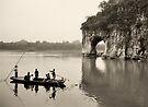 Ferry at Elephant Trunk Hill by Nigel Fletcher-Jones