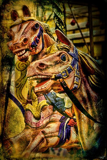 Carousel Horses, Brighton Seafront, UK by Chris Lord