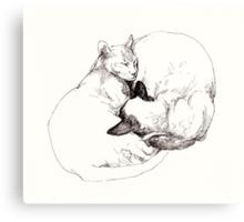 Chinky and Chang ~ yin and yang Canvas Print
