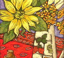 sunflowers&jug2 by maria paterson