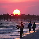 Sunset at the Beach by DebbieCHayes