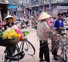 Selling flowers in Hanoi (10) , Vietnam by yoshiaki nagashima
