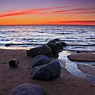 Lake Michigan - Wilderness State Park Sunset by Megan Noble