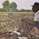 Man in Field  Burkina Faso by rebfrost