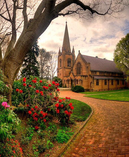 Memory Of A Lost Son - Hoskins Church, Lithgow NSW Australia - The HDR Experience by Philip Johnson